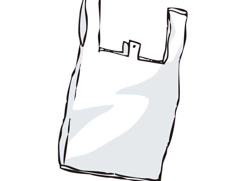 買い物用のレジ袋のイラスト