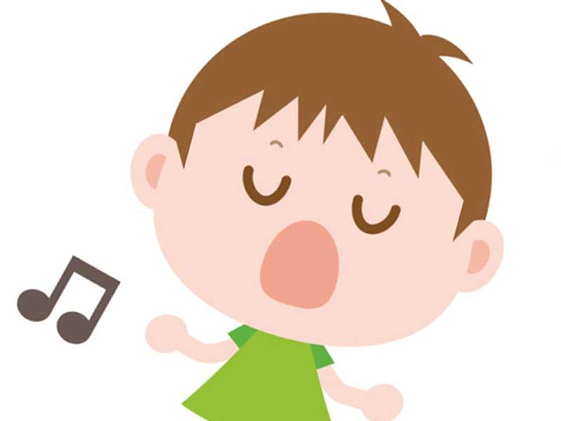 歌を歌っている子供のイラスト