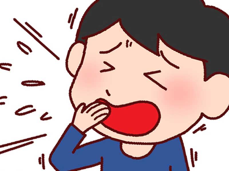 咳をしている子供のイラスト