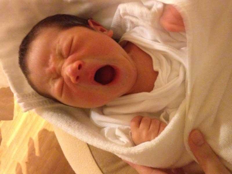 無事生まれた赤ちゃん