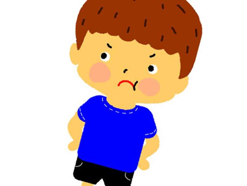 怒っている子供のイラスト