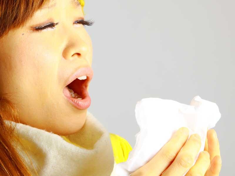 花粉症のお母さん