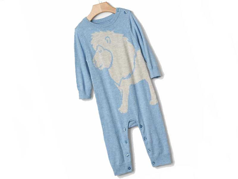 Lion sweater one-piece