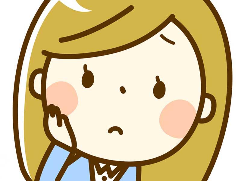 頬が赤くなっている妊婦さんのイラスト
