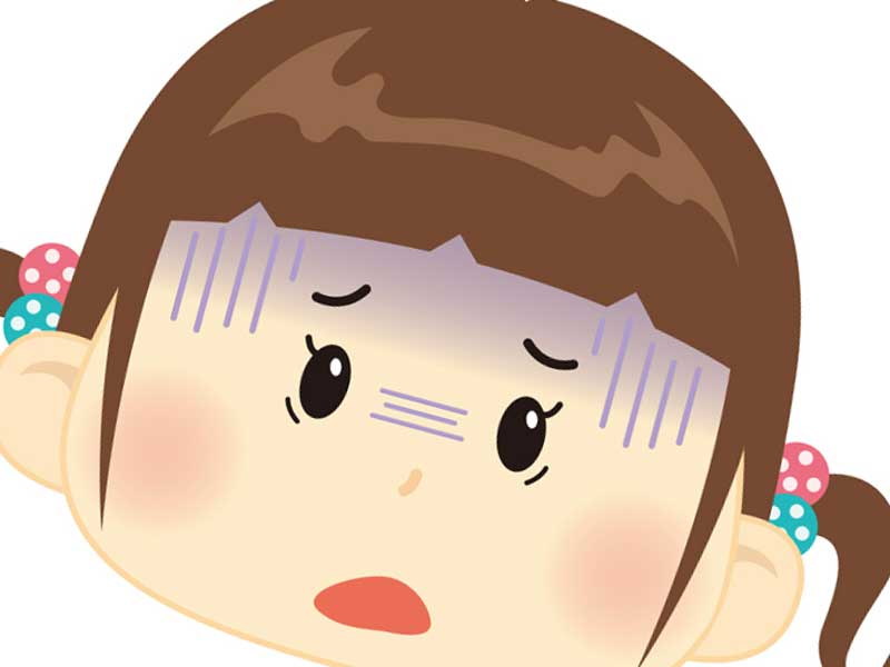 顔色が悪い子供のイラスト