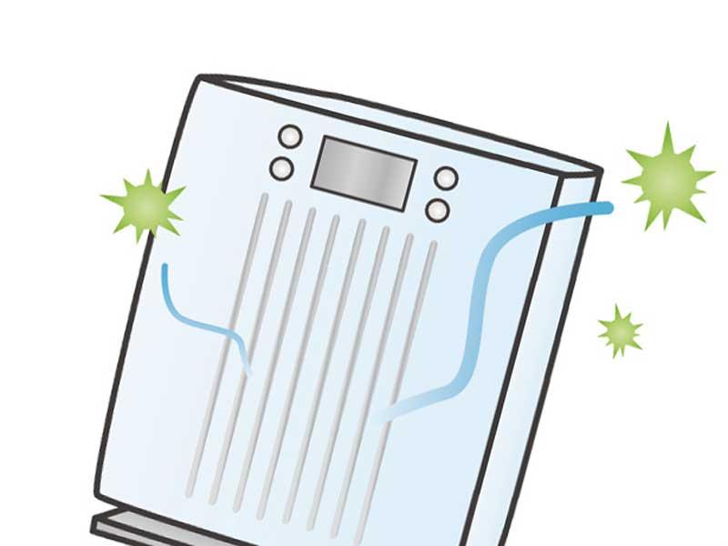 空気清浄器のイラスト