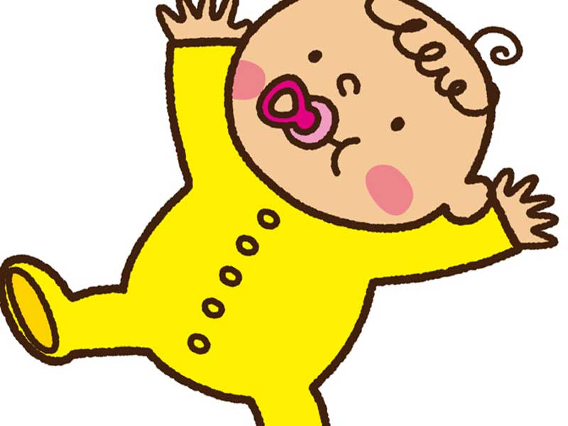 元気な赤ちゃんのイラスト