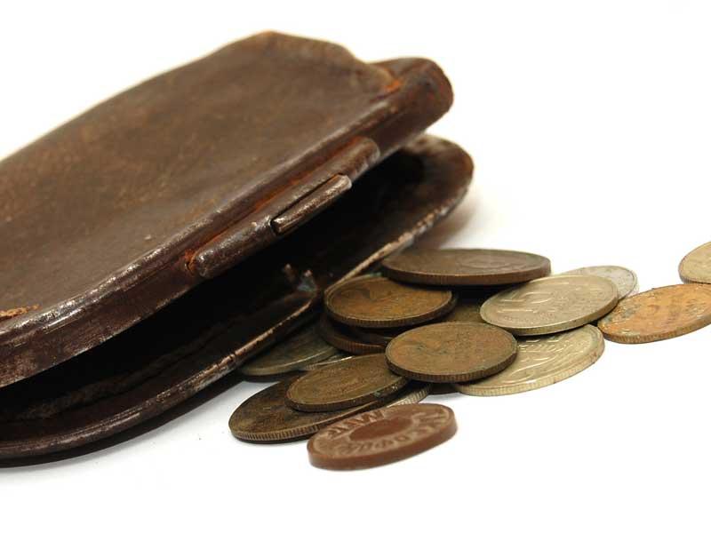 小銭と小銭入れ