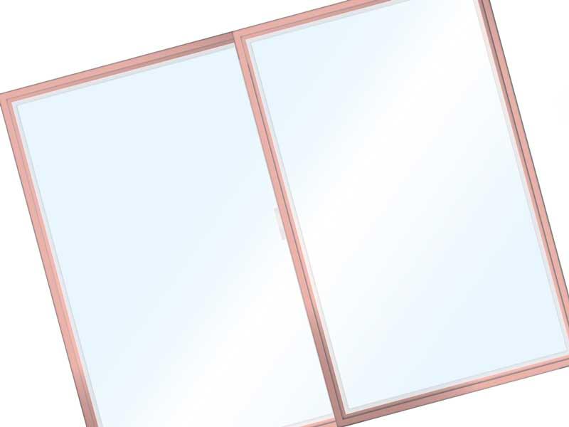 閉まっている窓のイラスト