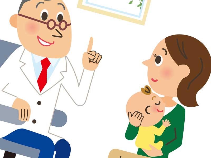眼科を受診する赤ちゃん