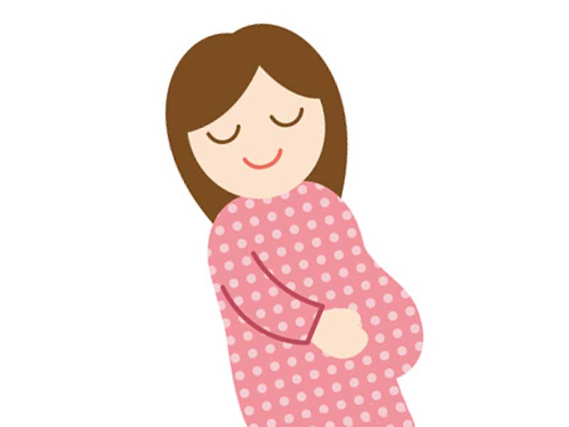 笑顔の妊婦さんのイラスト
