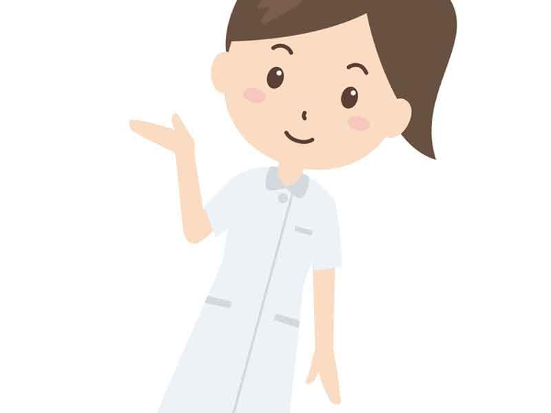 話をしている看護婦のイラスト
