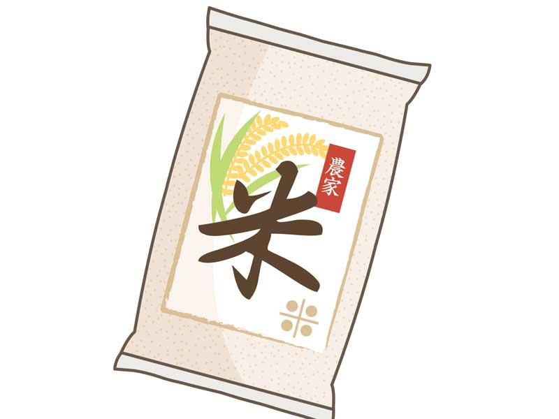 懸賞のお米のイラスト