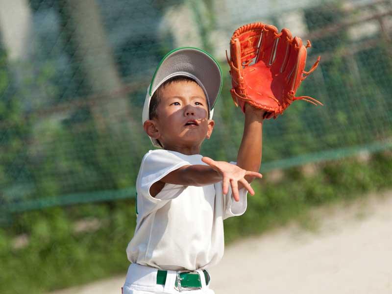 野球をしている男の子
