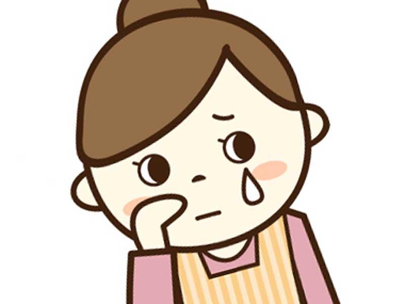 泣いているお母さんのイラスト