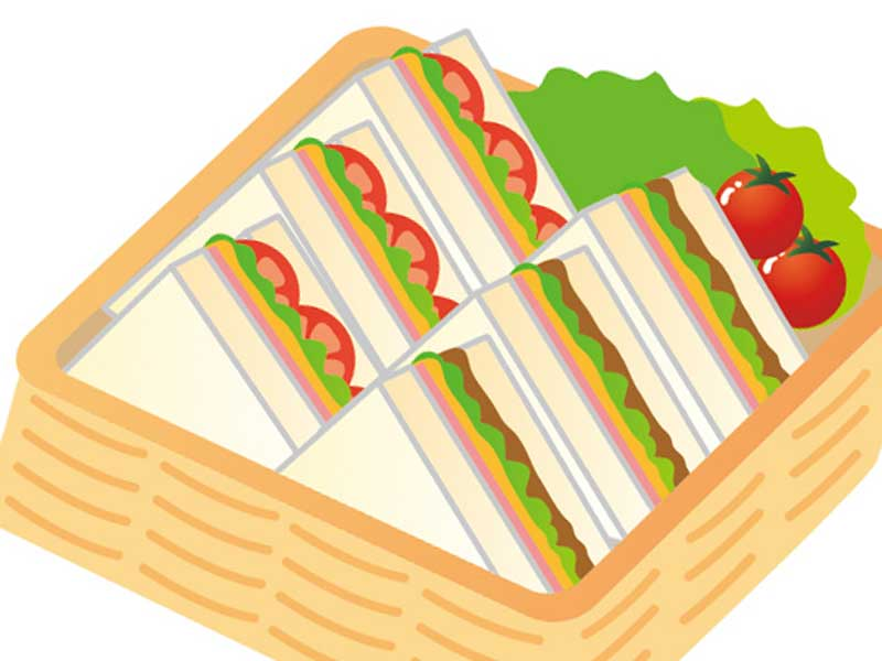 手作りサンドイッチのイラスト