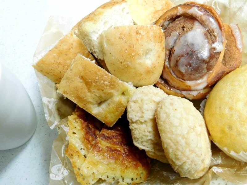 朝食に食べるパン
