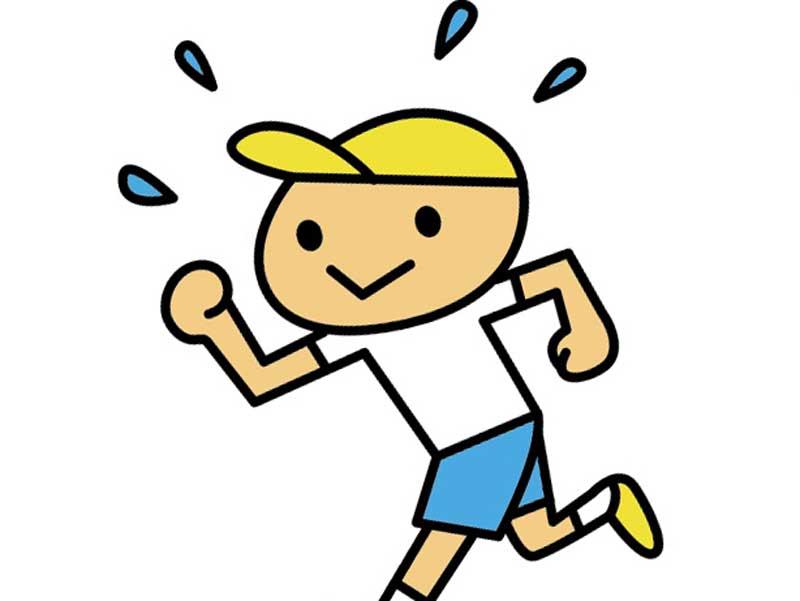 走っている男の子のイラスト