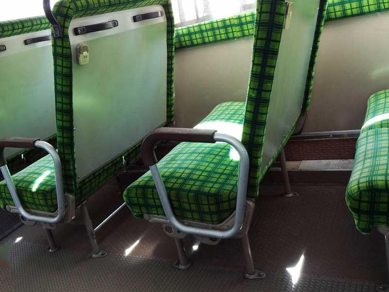 バスの座席シート