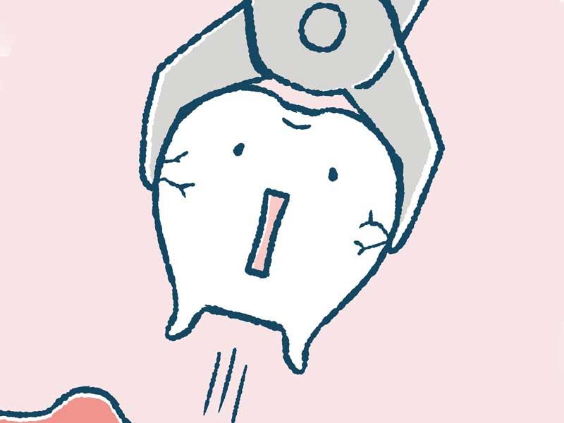 歯を抜くイラスト