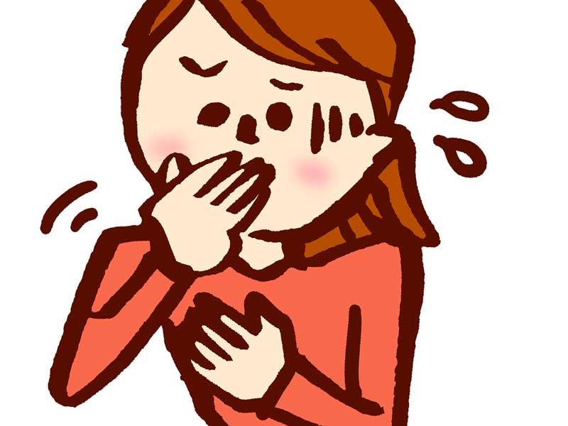 嘔吐する妊婦さんのイラスト