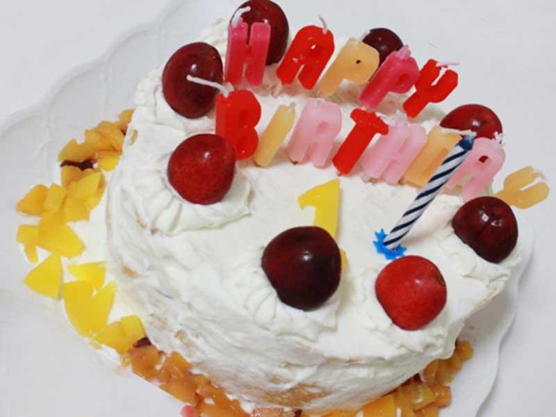 子供の1歳の誕生日ケーキ