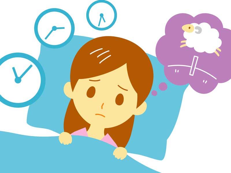 寝れない妊婦さんのイラスト