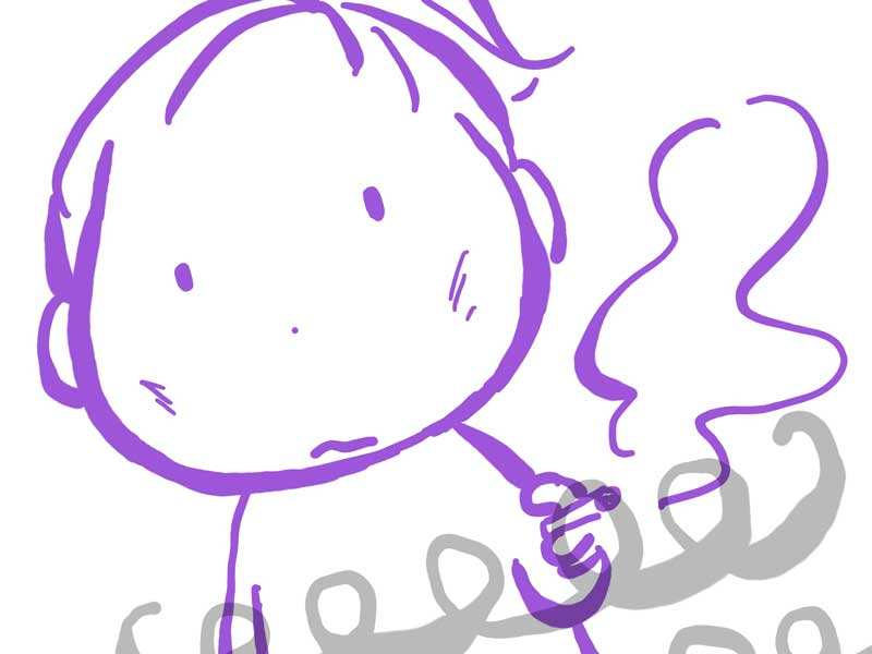 たばこを吸う妊婦さんのイラスト