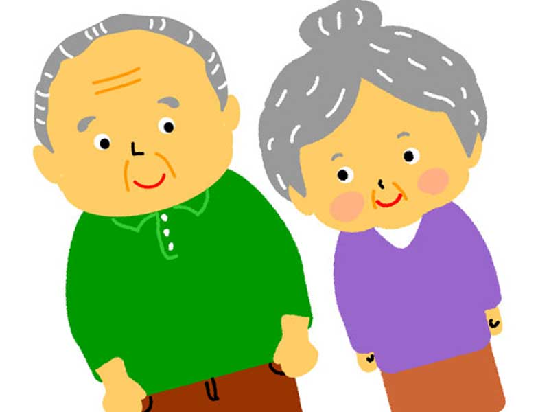 お爺さんとお婆さんのイラスト