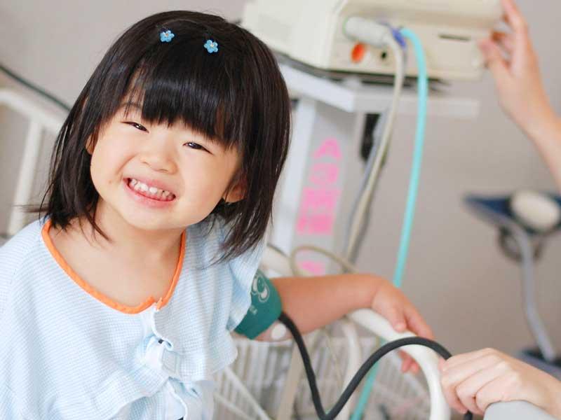 入院をしている女の子