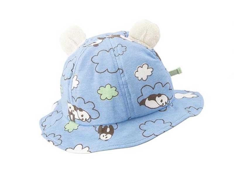 柔らか動物耳付きベビー帽(調節可能)