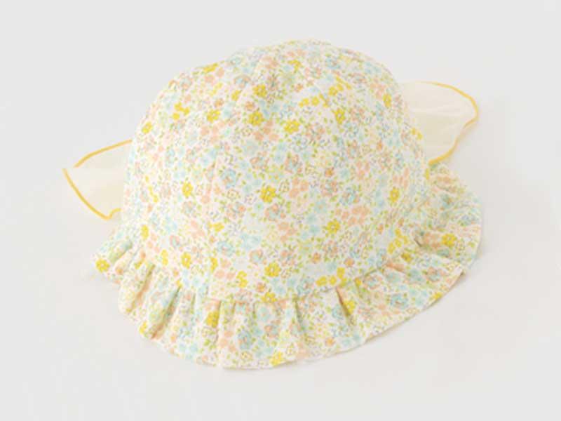 スウィートガール 後ろ日よけ付き小花柄帽子