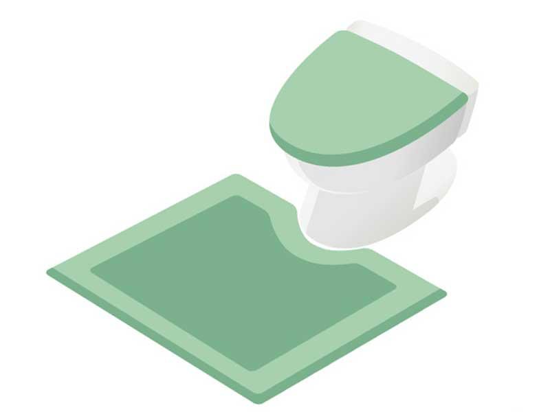 統一感のあるトイレ