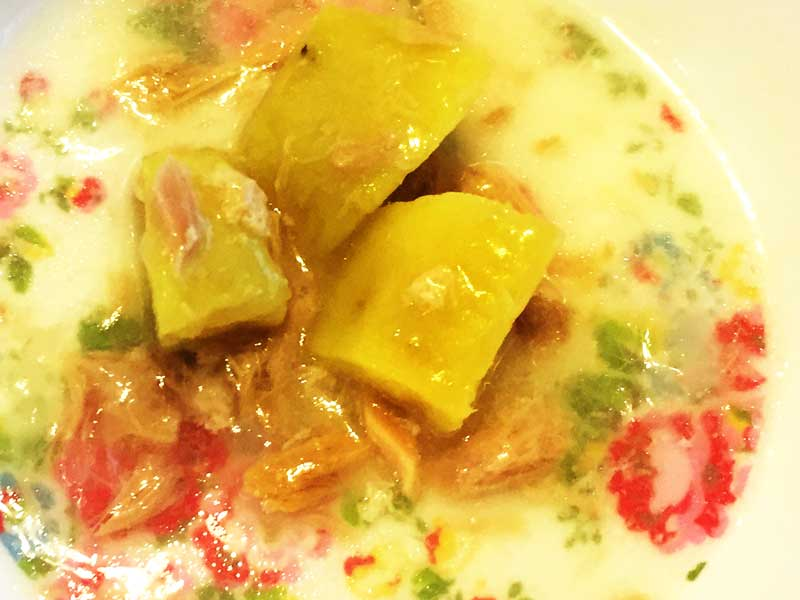 サツマイモとツナのミルク煮