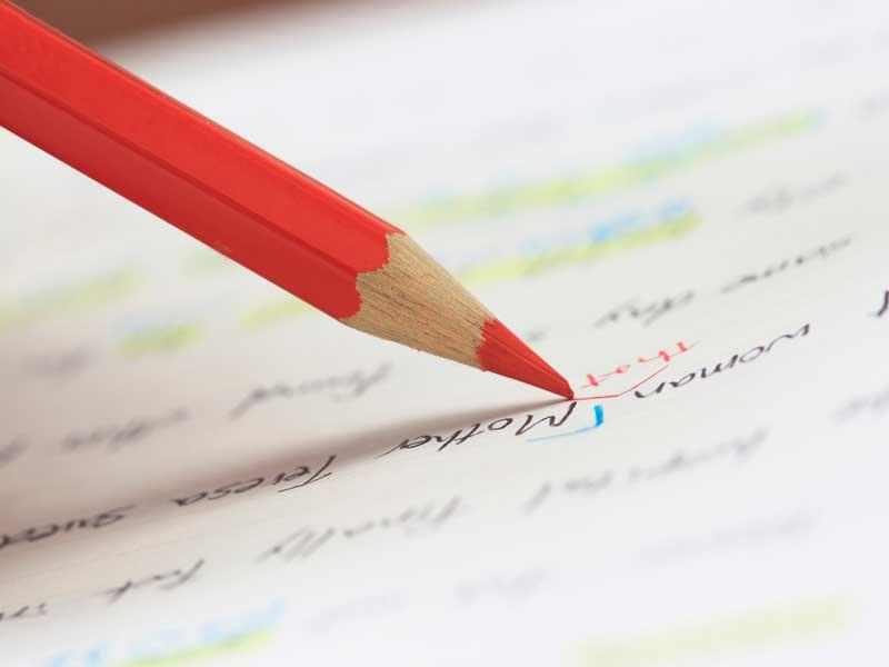 英語を勉強している主婦