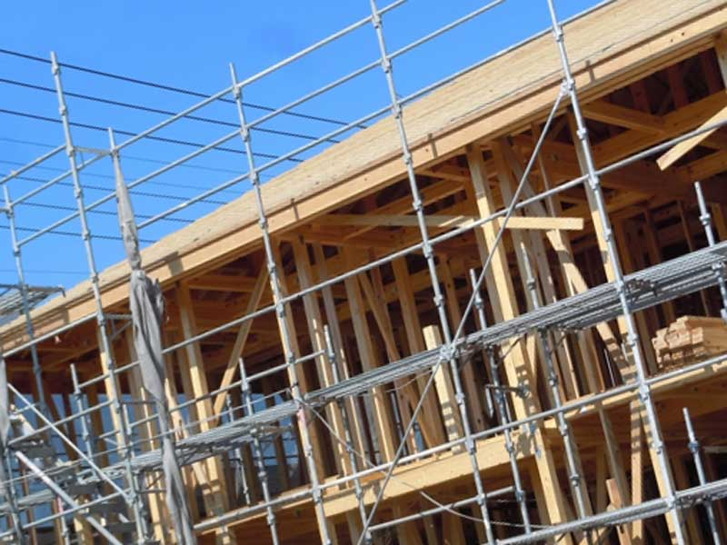 建設中の新居