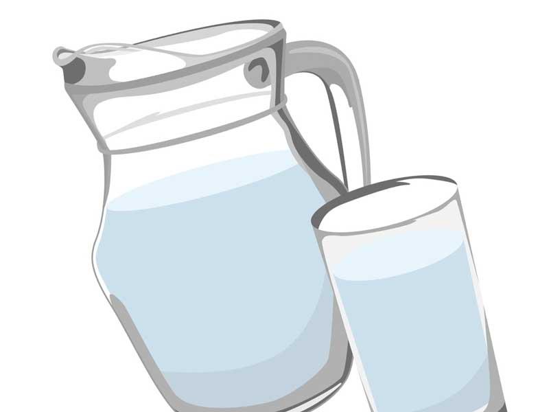 水の入ったコップのイラスト