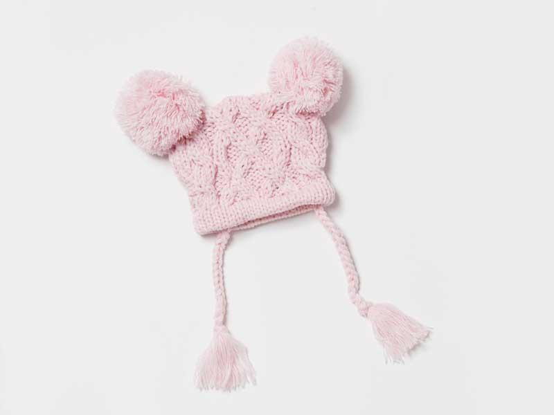赤ちゃん帽子のクインニットキャップ
