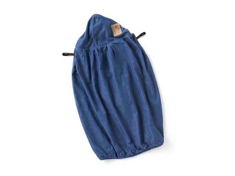 キューズベリーのデニム地抱っこカバー