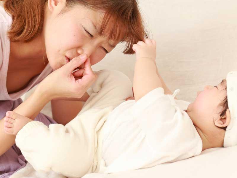 うんちが臭い赤ちゃん