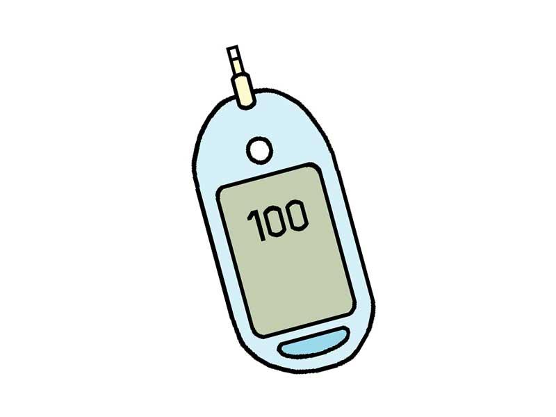 血糖計測器のイラスト
