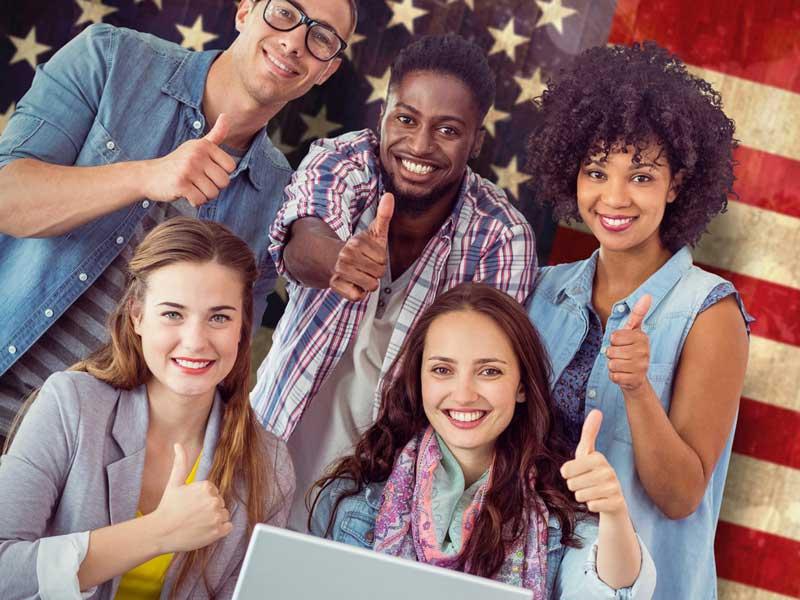 アメリカの大学生達