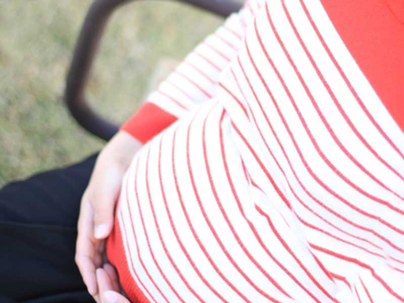 妊娠後期の妊婦さん