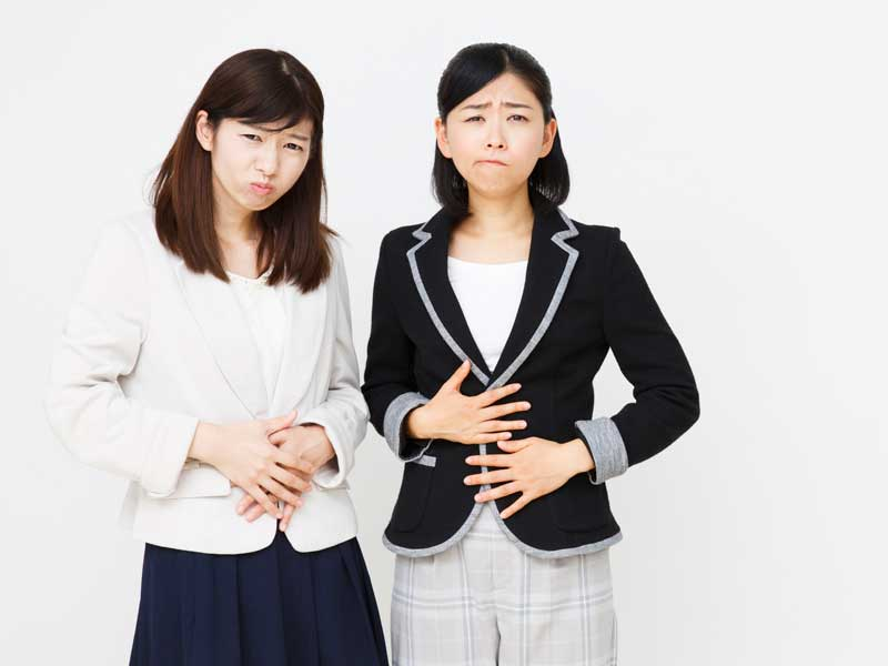 月経痛の女性達
