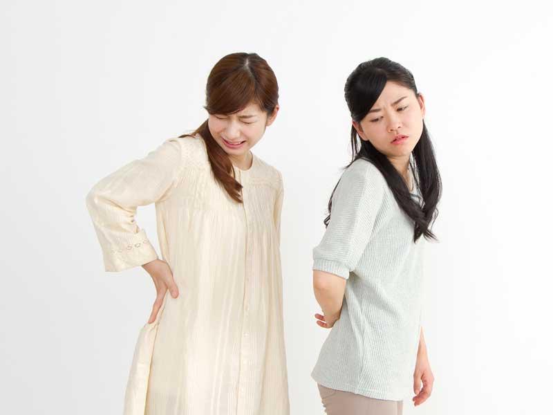 腰痛の女性達