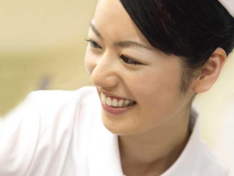 笑顔の看護婦さん