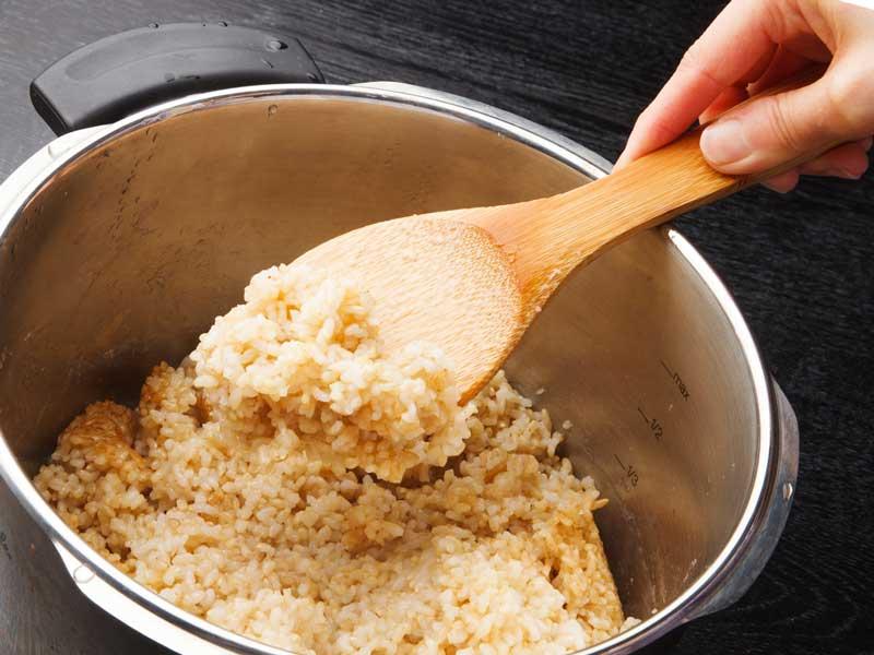圧力鍋で炊く玄米