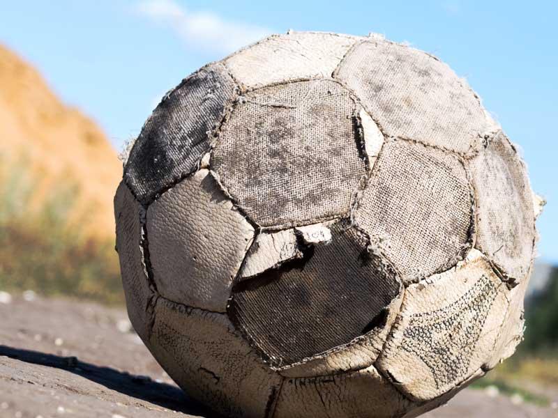 使えなくなったサッカーボール