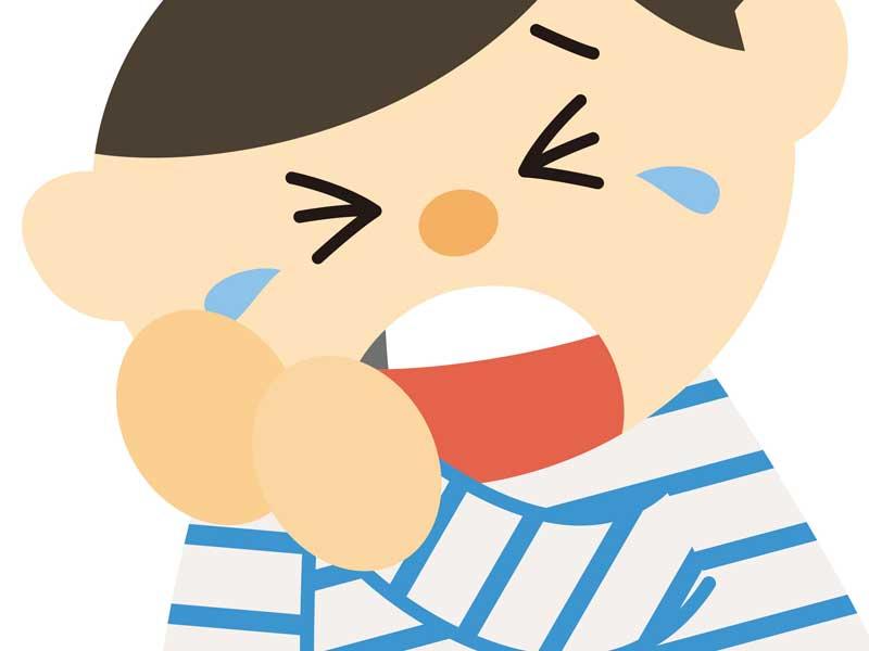 虫歯の子供のイラスト