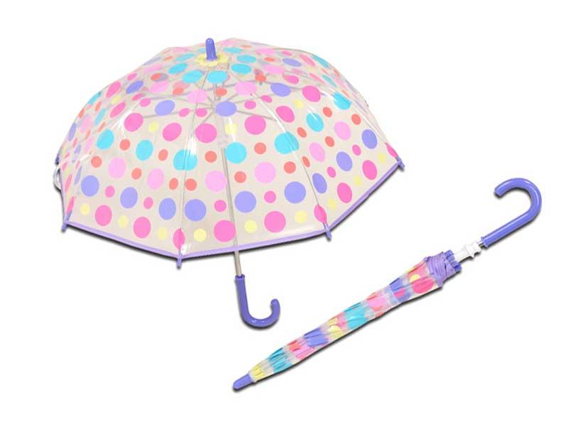 POEキッズ手開き傘の水玉